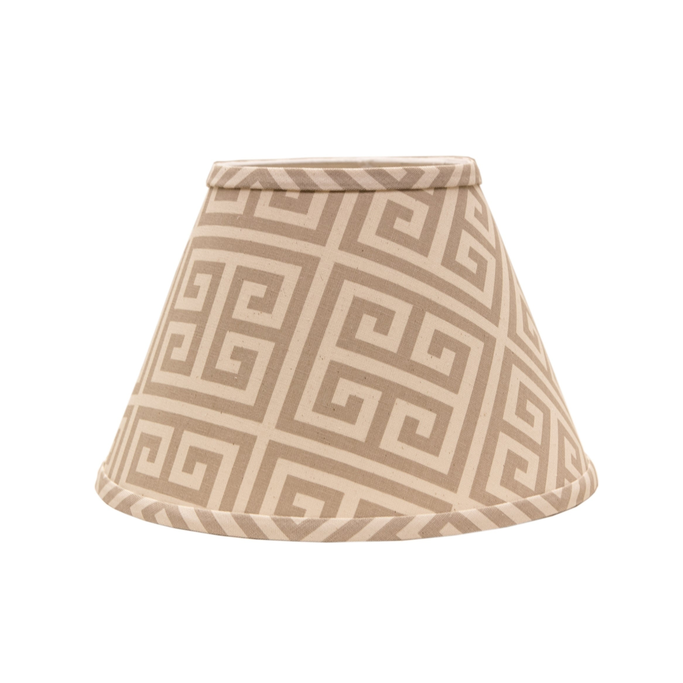 Somette Taupe and Natural Greek Key 16 inch Empire Lamp S...