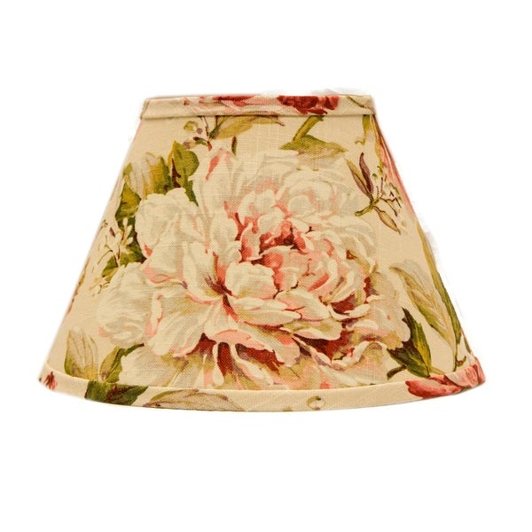 Somette Large Rose Floral 8 inch Empire Lamp Shade with Regular Clip