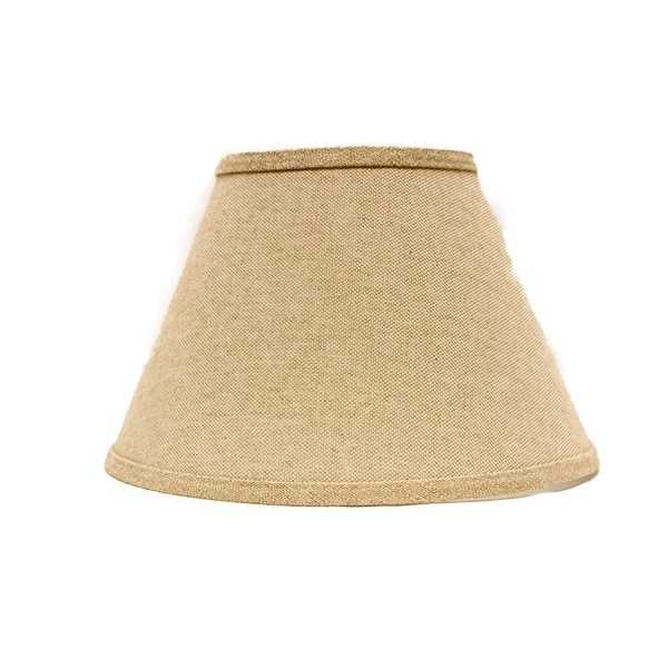 Somette Heavy Basket Neutral 8 inch Empire Lamp Shade with Regular Clip