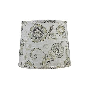 Somette Cottage Lily Greystone 14 inch Drum Lamp Shade with Washer