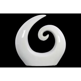 UTC21267 Ceramic Sculpture Gloss Finish White