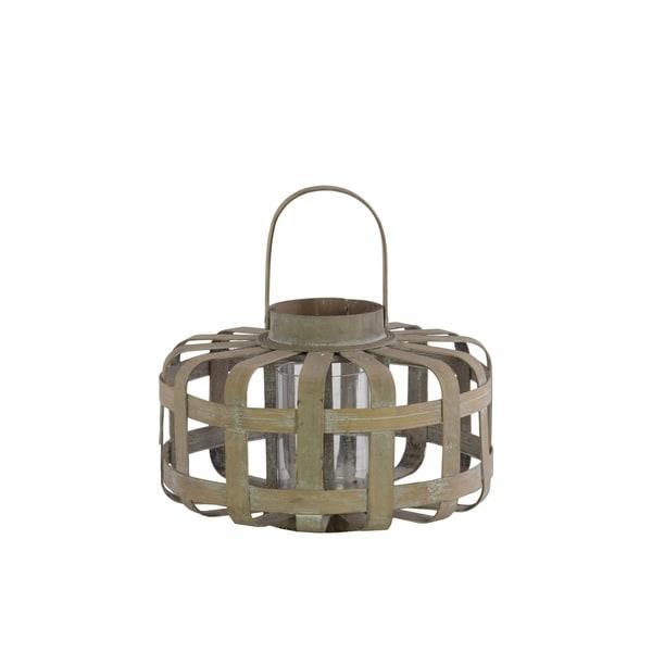 UTC41042 Wood Lantern Natural Wood Finish Brown