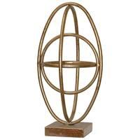 UTC36173 Metal Sculpture Leaf Finish Gold