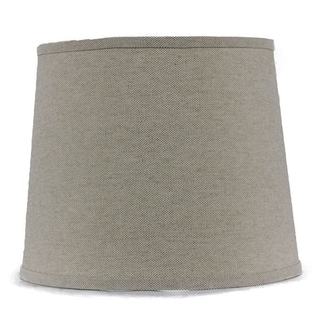 Somette Heavy Basket Neutral 16 inch Drum Lamp Shade with Uno Fitter