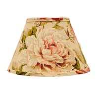 Somette Large Rose Floral 18 inch Empire Lamp Shade with Washer