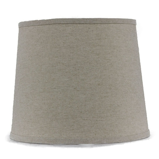 Somette Heavy Basket Neutral 10 inch Drum Lamp Shade with Washer