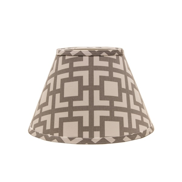 Somette Grey Modern Square 18 inch Empire Lamp Shade with With Uno