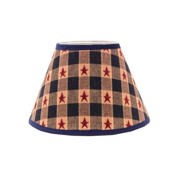Somette Star Spangled 8 inch Empire Lamp Shade with Regular Clip