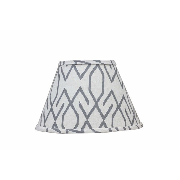 Somette Broken Diamonds Dark Grey 8 inch Empire Lamp Shade with Regular Clip