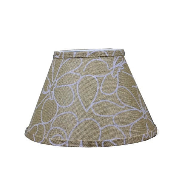 Somette White Floral Print 12 inch Empire Lamp Shade with Washer