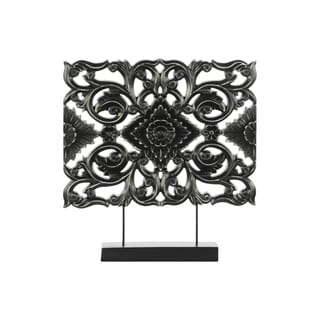 UTC43415 Wood Ornament Matte Finish Black
