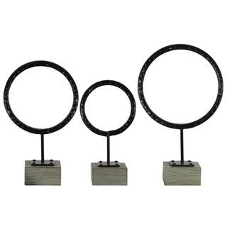 UTC39575 Metal Sculpture Metallic Finish Gray