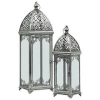 UTC40825 Metal Lantern Metallic Finish Silver