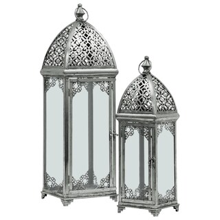 UTC40825 Metal Lantern Metallic Finish Silver