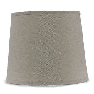 Somette Heavy Basket Neutral 16 inch Drum Lamp Shade with Washer