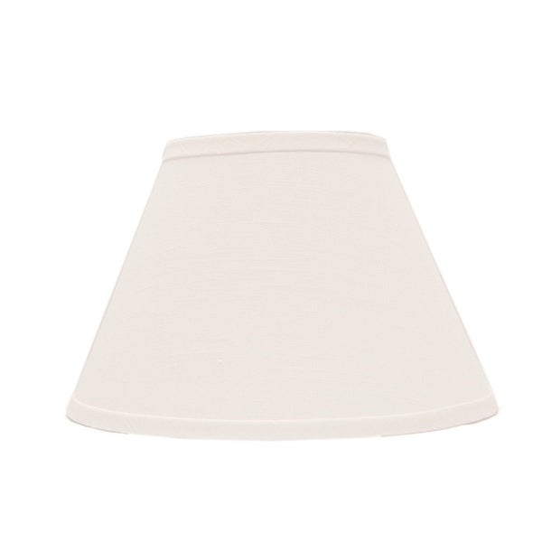 Somette White Linen 14 inch Empire Lamp Shade with Uno Fitter