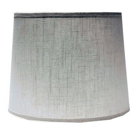 Somette White Linen 16 inch Drum Lamp Shade with Uno