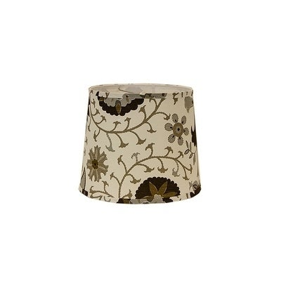 Somette Calypso Browns On White 16 inch Drum Shade with Washer