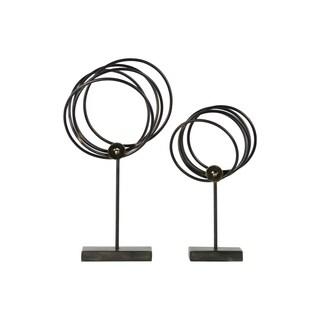 UTC43834 Metal Ornament Metallic Finish Gray