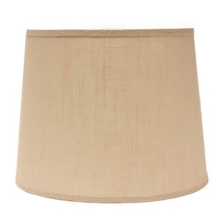 Somette Ivory Linen 16 inch Drum Lamp Shade with Uno