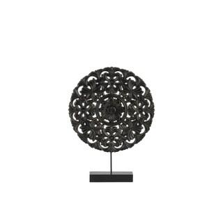 UTC43421 Wood Ornament Matte Finish Black