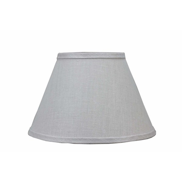 Somette Bone Linen 12 inch Empire Lamp Shade with Washer