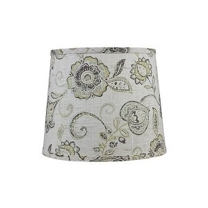 Somette Cottage Lily Greystone 12 inch Drum Lamp Shade with Washer