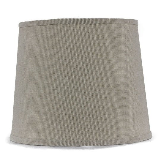 Somette Heavy Basket Neutral 12 inch Drum Lamp Shade with Washer