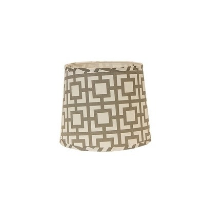 Somette Grey Modern Square 10 inch Drum Lamp Shade with Washer