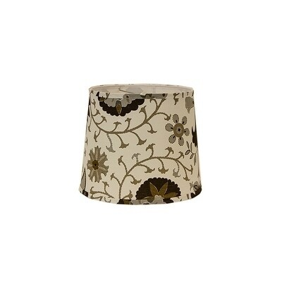 Somette Calypso Browns On White 12 inche Drum Lamp Shade with Washer