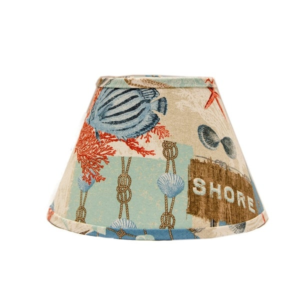 Somette Nautical Patchwork 16 inch Empire Lamp Shade with Washer