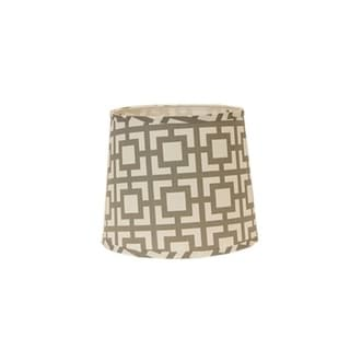 Somette Grey Modern Square 16 inch Drum Lamp Shade with Uno