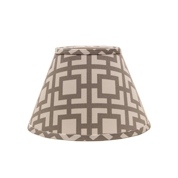 Somette Grey Modern Square 14 inch Empire Lamp Shade with Uno Fitter