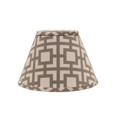 Somette Grey Modern Square 8 inch Empire Lamp Shade with Regular Clip