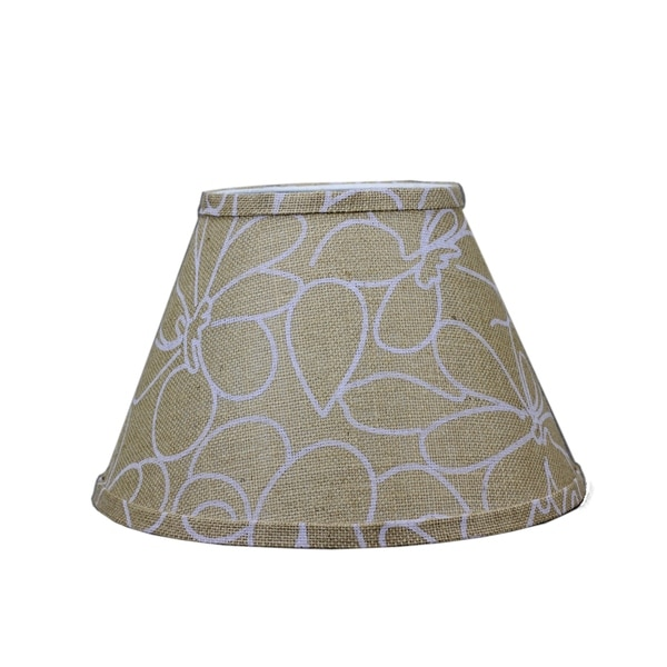 Somette White Floral Print 14 inch Empire Lamp Shade with Washer