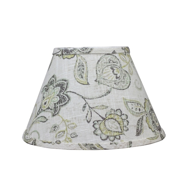 Somette Cottage Lily Greystone 12 inch Empire Lamp Shade with Washer