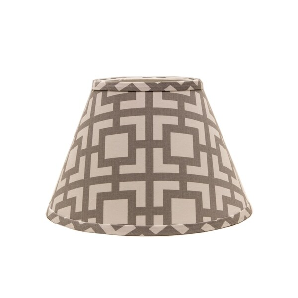 Somette Grey Modern Square 12 inch Empire Lamp Shade with Washer