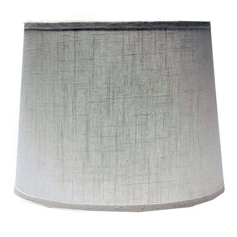 Somette White Linen 10 inch Drum Lamp Shade with Washer