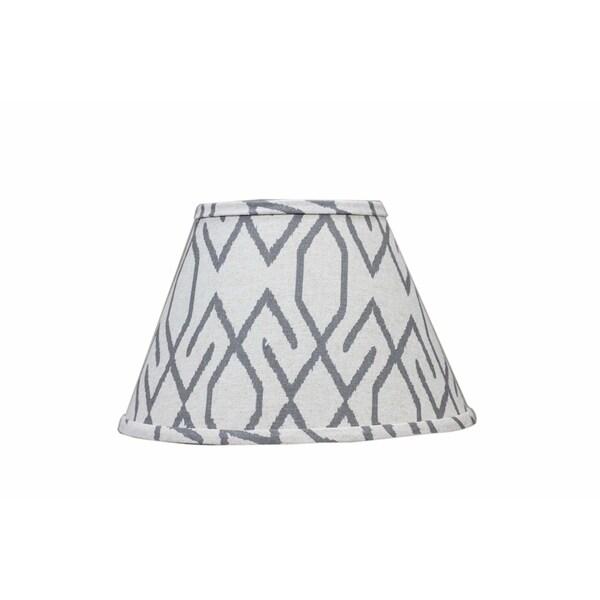 Somette Broken Diamonds Dark Grey 10 inch Empire Lamp Shade with Washer