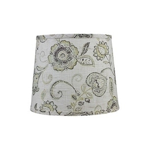 Somette Cottage Lily Greystone 10 inch Drum Lamp Shade with Washer
