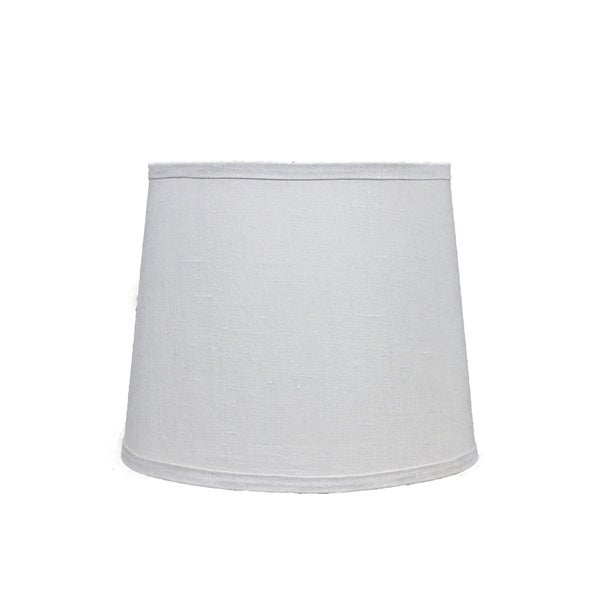 Somette Bone Linen 12 inch Drum Lamp Shade with Washer