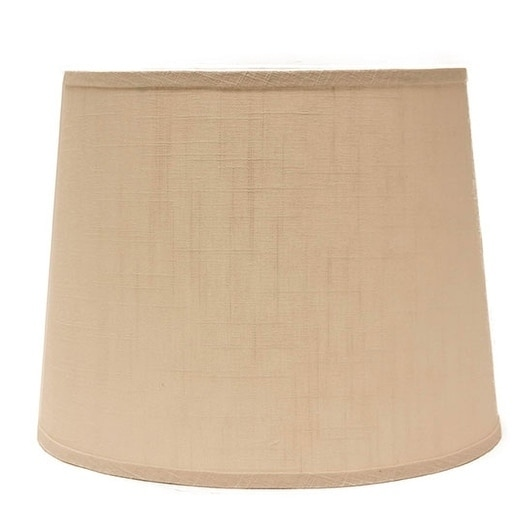 Somette Ivory Linen 12 inch Drum Lamp Shade with Washer