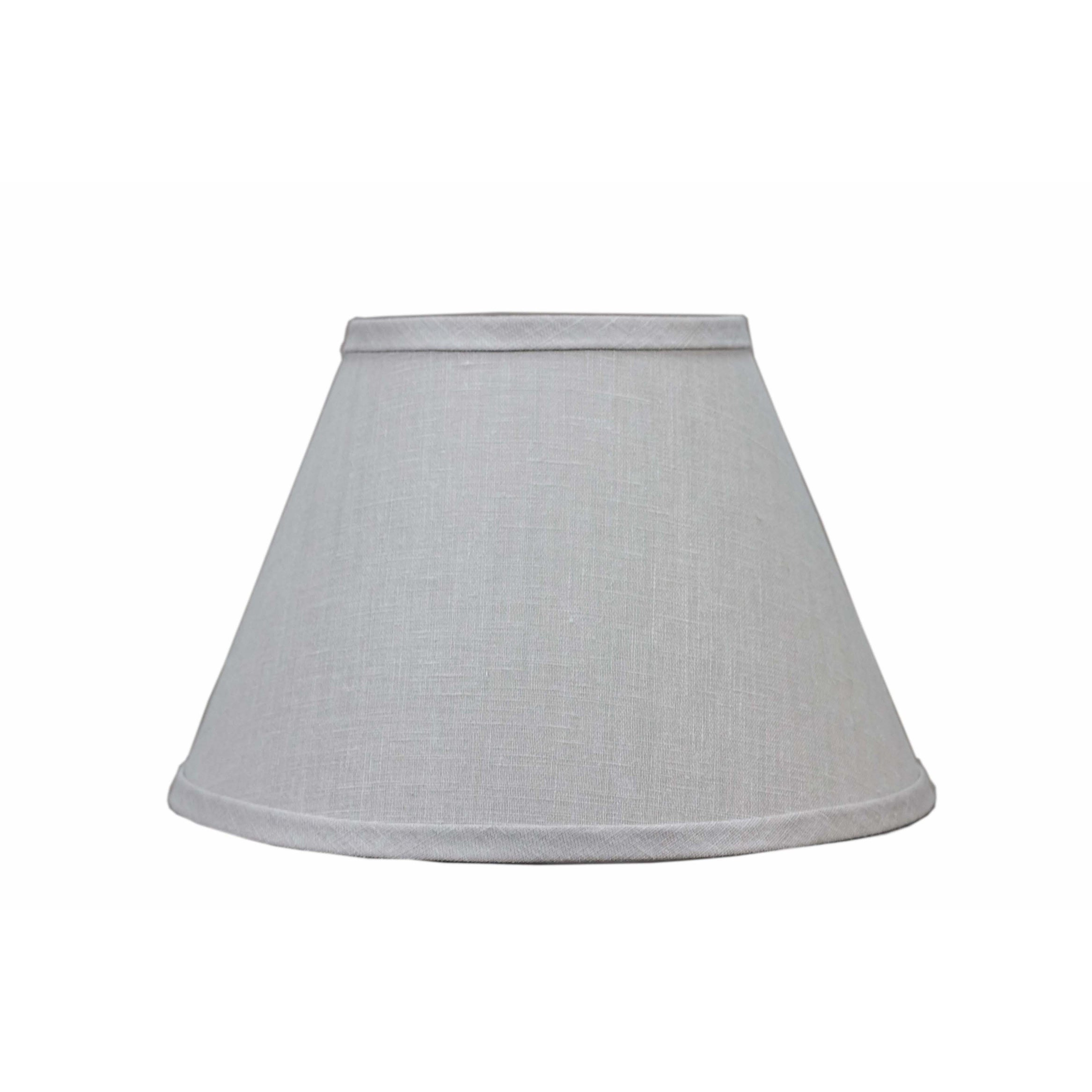 Somette Bone Linen 18 Inch Empire Lamp Shade With With Uno Overstock 17894234