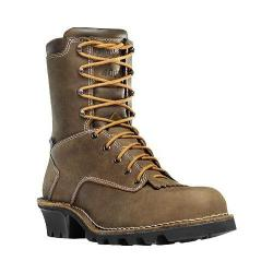Men's Danner Danner Logger 8in NMT Insulated Boot Brown Oiled Nubuck Leather