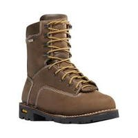 Men's Danner Gritstone 8in Alloy Toe Work Boot Brown Full Grain Leather
