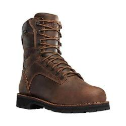 Men's Danner Workman GORE-TEX 8in Alloy Toe Boot Brown Oiled Full Grain Leather