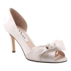 Women's Nina Forbes2 D'Orsay Pump Ivory Crystal Satin