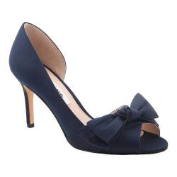 Women's Nina Forbes2 D'Orsay Pump New Navy Luster Satin