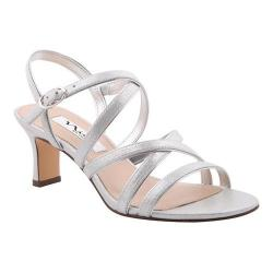 Women's Nina Genaya Strappy Sandal Silver Reflect Suedette/Metallic Foil (More options available)