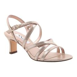 Women's Nina Genaya Strappy Sandal Taupe Reflective Suedette/Fairy Dust (More options available)